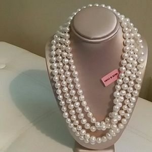 PEARL NECKLACE, FRESHWATER, STRAND 65""